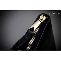 Кошелек женский кожаный Felice P02  черный, фото 3