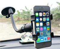 Держатель для телефона навигатора авто гибкий автодержатель