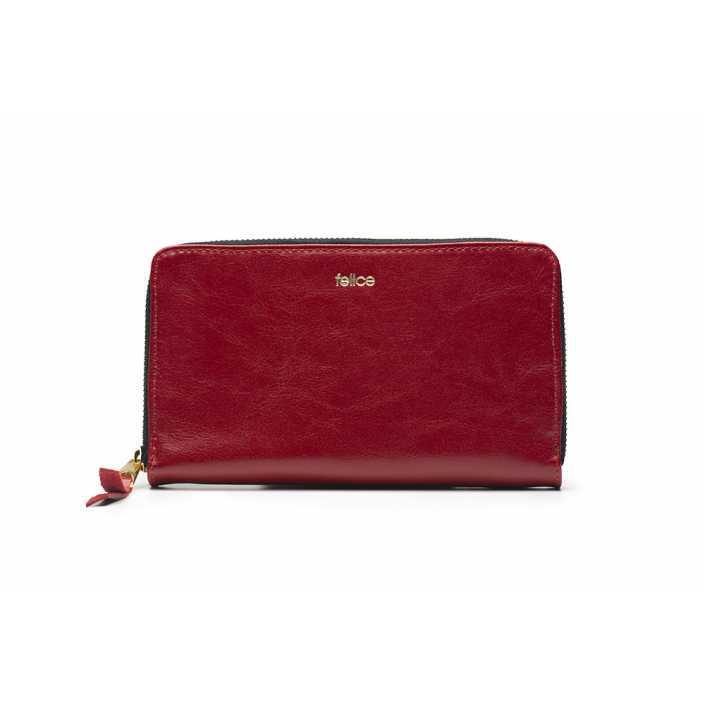 Кошелек женский кожаный Felice P01 красный