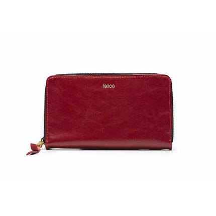 Кошелек женский кожаный Felice P01 красный, фото 2