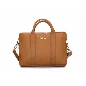 Женская кожаная сумка для ноутбука Felice Dulce светло-коричневая