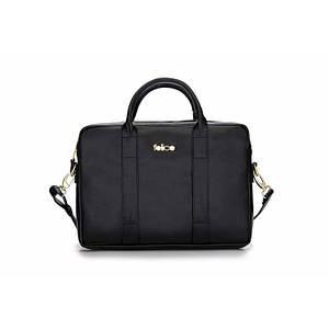 Женская кожаная сумка для ноутбука Felice Dulce черная