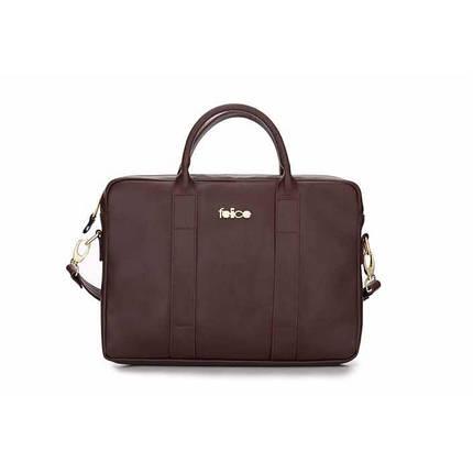 Женская кожаная сумка для ноутбука Felice Dulce коричневая, фото 2