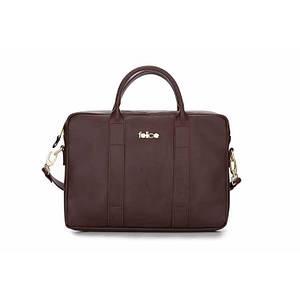 Кожаная женская сумка для ноутбука коричневая Felice Dulce (Польша)