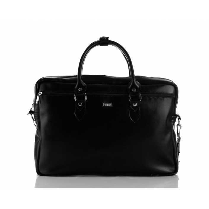 Женская кожаная сумка для ноутбука Felice Marina черная