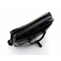 Женская кожаная сумка для ноутбука Felice Marina черная, фото 2