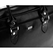 Женская кожаная сумка для ноутбука Felice Marina черная, фото 3