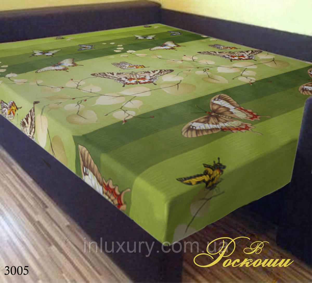 "Простынь на резинке ""Зеленая Бабочка"" 140х200х20"