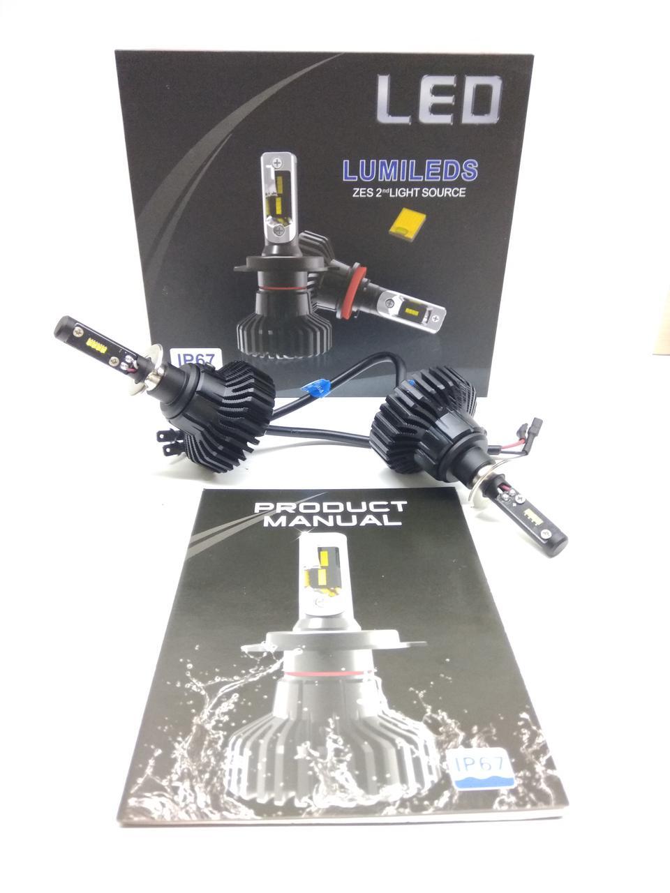 Светодионые автолампы LED X5 Lumileds Luxeon Z ES, H3, 6000LM, 6500K, 50W, 9-36V
