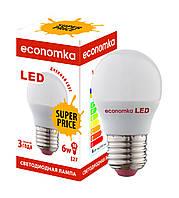 Светодиодная лампа Economka LED Super Price G45 6W Е27-4200К