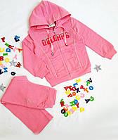 Костюм спортивный на девочку, размер 98-104 см, розовый
