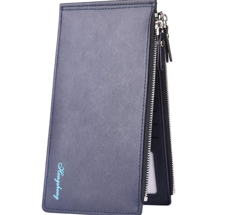 Кошелек мужской портмоне Hengsheng Slim Blue