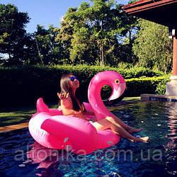 Надувной круг-матрас фламинго 140 см AL-8371-30