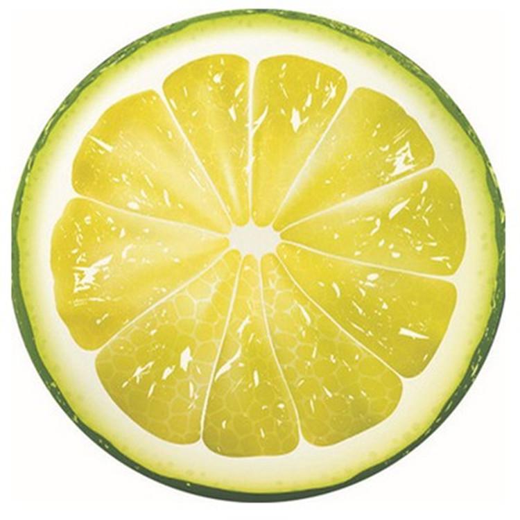 Пляжное полотенце SUNROZ Fruit Towel круглое Лимон 150 см (SUN0882)
