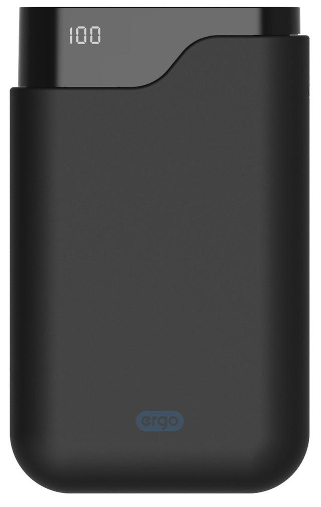 ERGO LI-U6TYPE-C 12000 MAH RUBBER BLACK