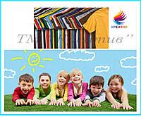 Детские однотонные футболки под нанесение логотипа (от 50 шт.)
