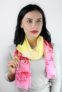 Шарф Глория хризантема розовый