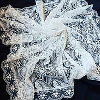 Белый платок из гирюра для церкви