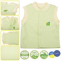 Трикотажный жилет для мальчика 1-4 года, капитон р. 80-104 ТМ ЭКО ПУПС салатовый, фото 1