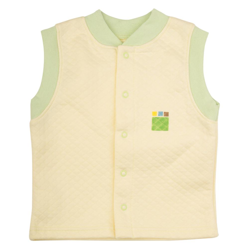 8fac4871167e Трикотажный жилет для мальчика 1-4 года, капитон р. 80-104 ТМ ЭКО ПУПС лимон