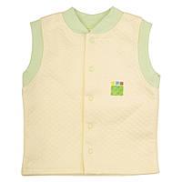 Трикотажный жилет для мальчика 1-4 года, капитон р. 80-104 ТМ ЭКО ПУПС лимон