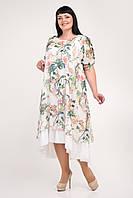Яркое платье большего размера 56-62, фото 1