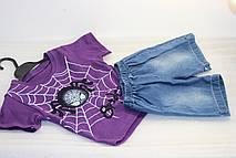 """Костюм детский летний для мальчика шорты с футболкой """" Spider baby"""" фиолетовый 2"""