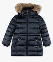 Синяя зимняя куртка с опушкой на девочку 4-5 лет C&A Германия Размер 110
