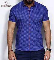Приталенная летняя рубашка из Турции для мужчин