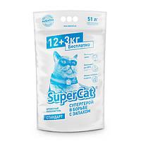 Collar SuperCat Стандарт 12+3 древесный наполнитель для котов 51л