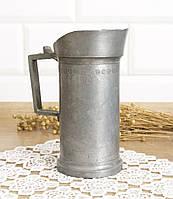 Старый оловянный кувшин на пол-литра, олово, Германия , фото 1