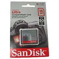 Карта памяти Compact Flash 16Gb SanDisk Ultra 50Mb/s (333x)