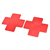 Наклейки на грудь красного цвета в виде креста (стикини), фото 2