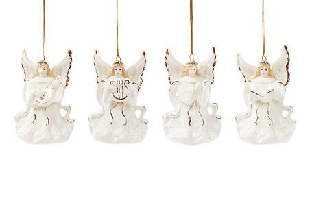 Колокольчик фарфоровый Ангел 7.5см, 4 вида 197-A09, фото 2