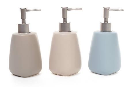 Диспенсер керамический 400мл для жидкого мыла/лосьона 3 вида (851-225), фото 2