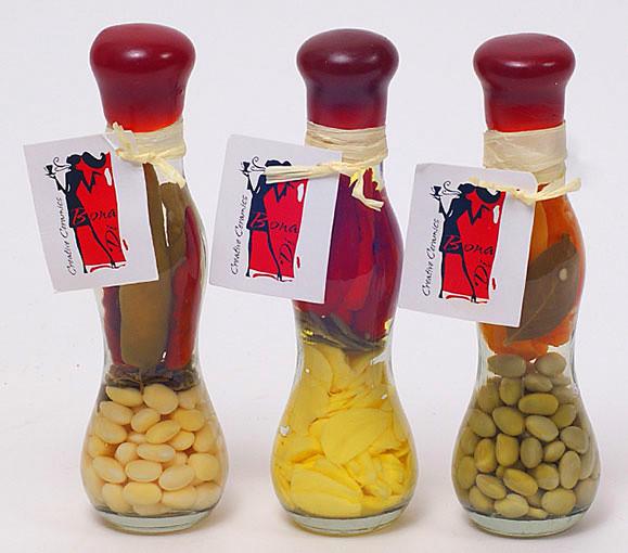 Декоративная бутылка с овощами, 16.8см, 3 вида 131-036