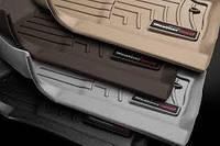 Коврики салона Weathertech BMW 5 2017- G30 с бортиком, какао,передние