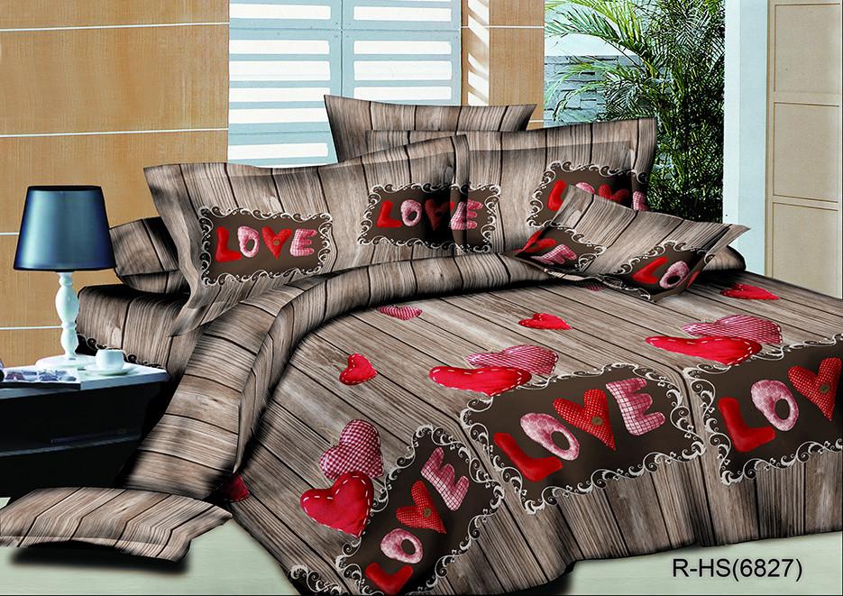 Полуторный комплект постельного белья 150х220 из ранфорса LOVE