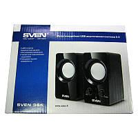 Колонки Sven 354 (black), 2x2W, 2mini-Jack3.5;USB