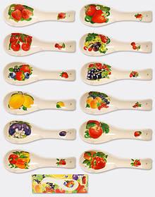 Подставка под ложку Овощи, Ягоды, 23см, 12 видов 104-003