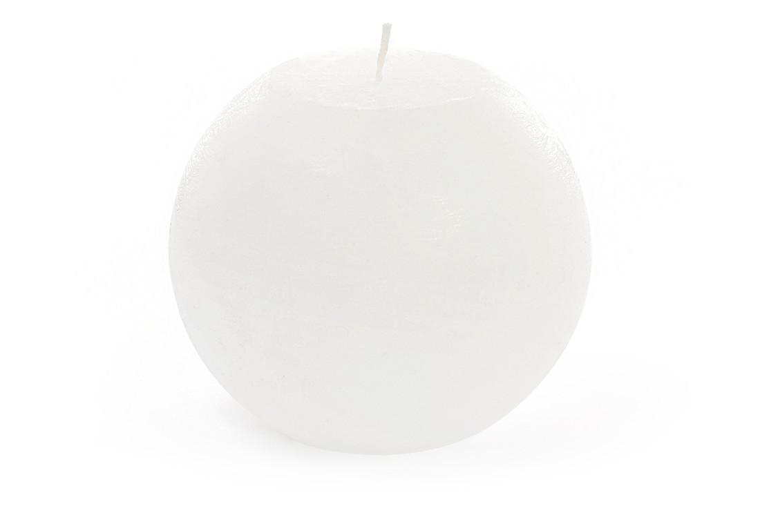 Свеча в форме шара 12см цвет - белый (B012_1-1.1)