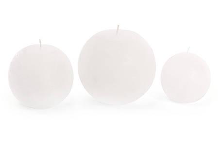 Свеча в форме шара 12см цвет - белый (B012_1-1.1), фото 2