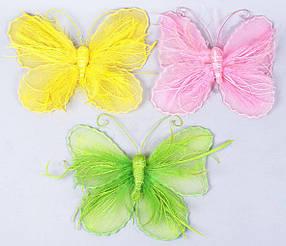 Подвесной пасхальный декор Бабочка 25см, 3 вида 199-B12
