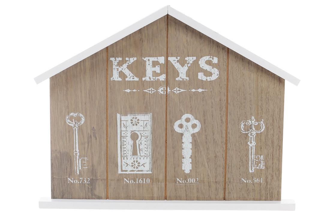 Ключница деревянная (4 крючка) 443-547