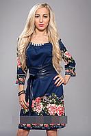 Платье женское декорировано бусами