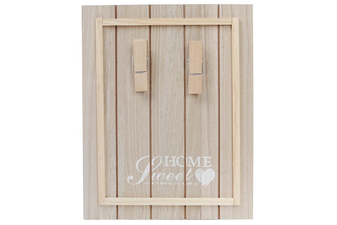 Доска деревянная Sweet Home с прищепками для записок 443-530