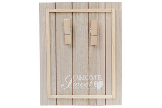 Доска деревянная Sweet Home с прищепками для записок 443-530, фото 2