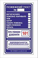 """Знак """"Пожарный пост"""" (для пожарного щита или пожарного стенда)"""