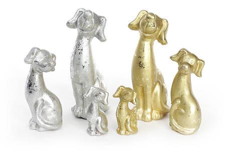 Декоративная статуэтка Собака 13см, цвет - серебро NY01-335, фото 2