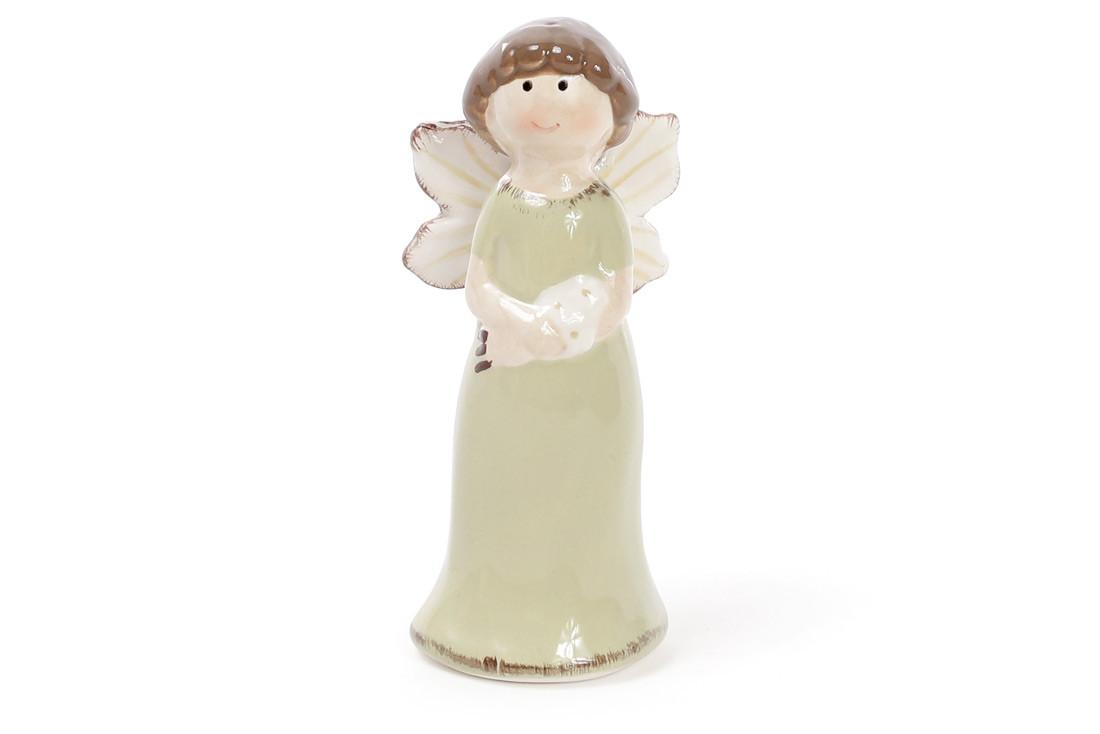 Пасхальный декор Ангел 9.3см, цвет - мятный 834-733